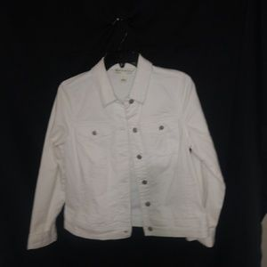 Jones NY Jeans White Jeans Jacket Sz S
